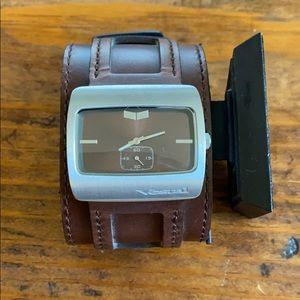 Men's Brown Leather Vestal Watch